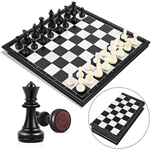 Peradix Tablero Ajedrez Magnético,Juego de ajedrez de Rompecabezas 25 X 25CM...