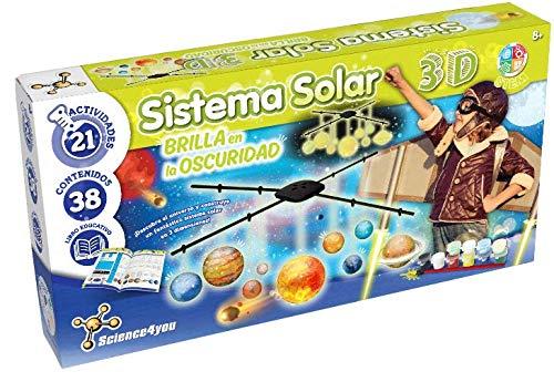 Science4you - Sistema Solar 3D, Brilla en la Oscuridad - Jugueto Cientifico y...