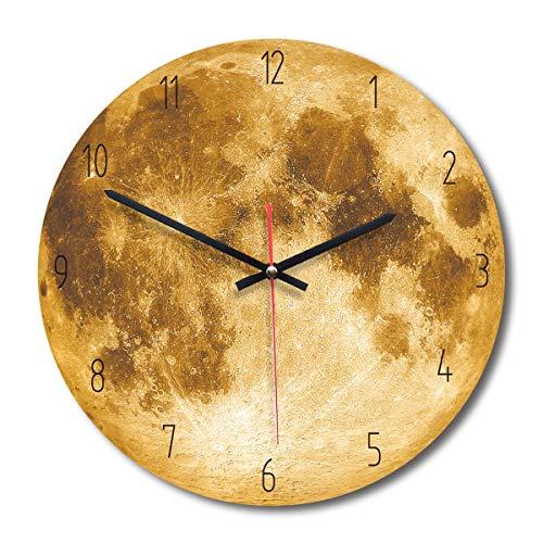 Eurobuy Reloj de Pared de Madera del Modelo de la Luna, Estilo Moderno...