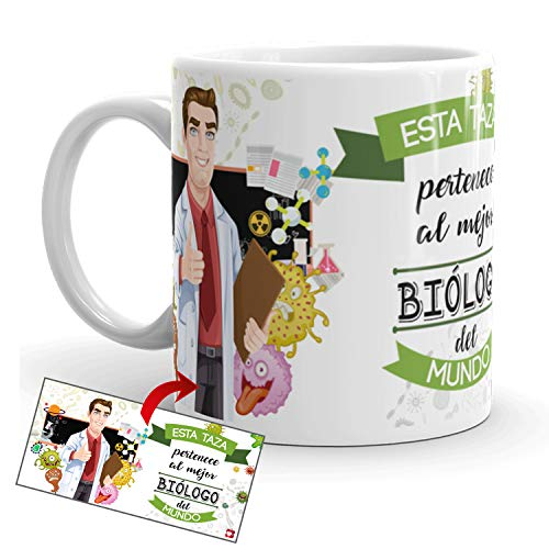 Kembilove Taza de Café del Mejor Biólogo del Mundo – Taza de Desayuno para...
