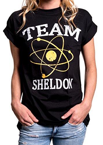 MAKAYA Top Manga Corta Estilo Oversize - Team Sheldon - Camiseta Big Bang Theory...