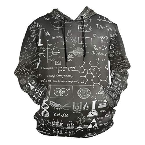 Sudaderas con Capucha para Hombres Sudaderas con Capucha Ciencia Fórmulas...