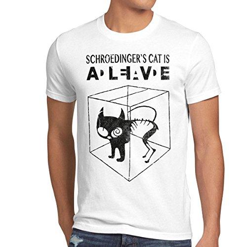 style3 Gato de Schrödinger Camiseta para Hombre T-Shirt Sheldon,...