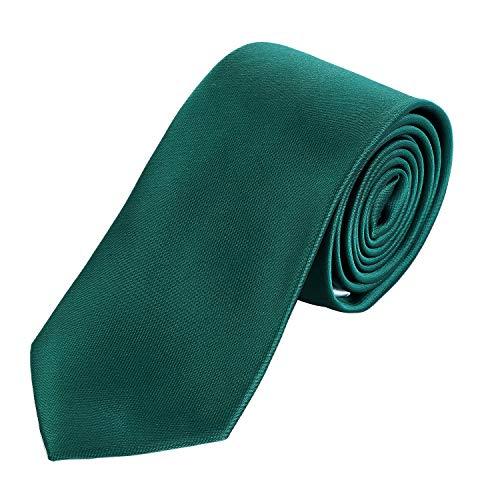 DonDon hombres corbata 7 cm business professional classica hecho a mano verde...