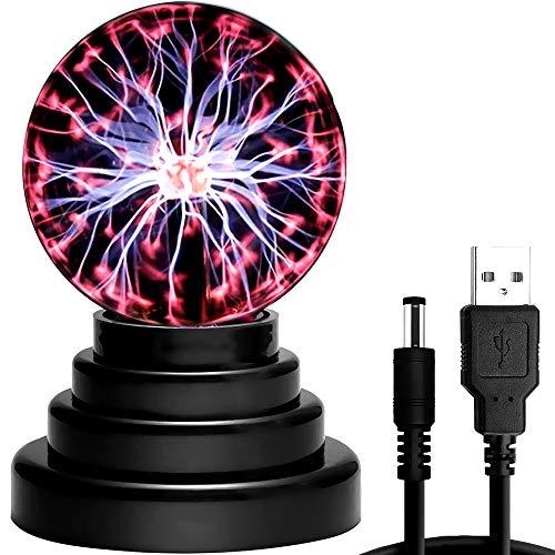 CestMall Luz de bola de plasma, lámpara de plasma sensible al tacto,...