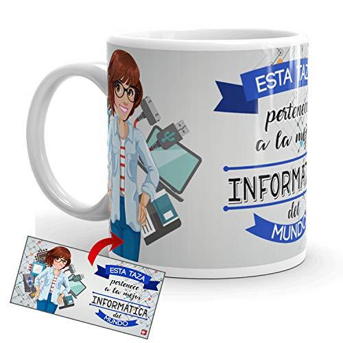 Kembilove Taza de Café de la Mejor Informática del Mundo – Taza de Desayuno...