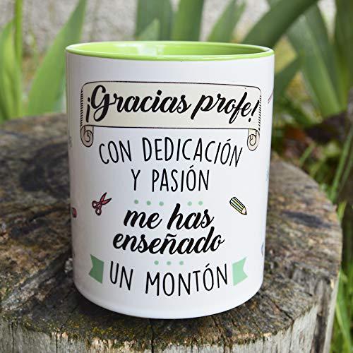 Sonrie - EL Pedido LLEGA EN MÁXIMO 48 Horas - Taza con Frase y Dibujo Divertido...