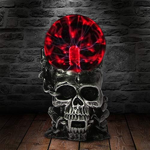Luz de la noche 10 cm Cráneo forma plasma bola nebulosa bola globo novedad...