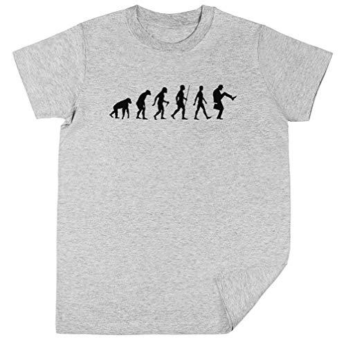 Wigoro Evolución De Hombre Niños Unisexo Chicos Chicas Gris Camiseta Kids...
