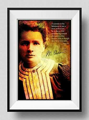 Marie Curie Art Print Póster Afiche Foto Regalo Cita Science Feminism -...