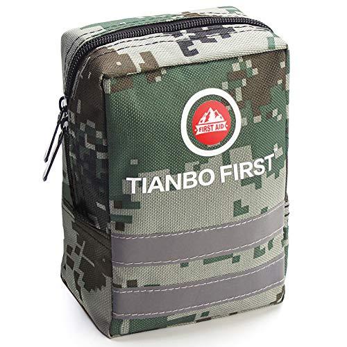 TIANBO FIRST Kit de Primeros Auxilios de 120 Piezas, Kit de Trauma táctico con...