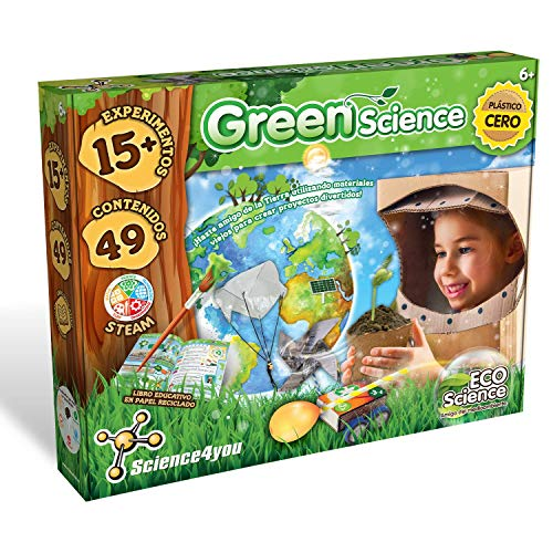 Science4you-Green Science – Juguete, Ecologico con 15 Experimentos y un Libro...