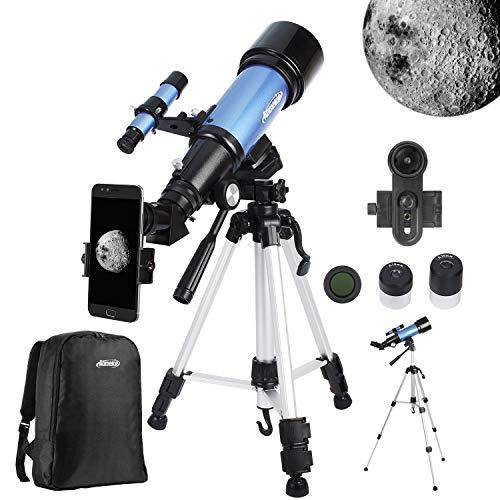 Aomekie Telescopios Astronómicos 400/70mm Profesional Refractor Telescopio para...