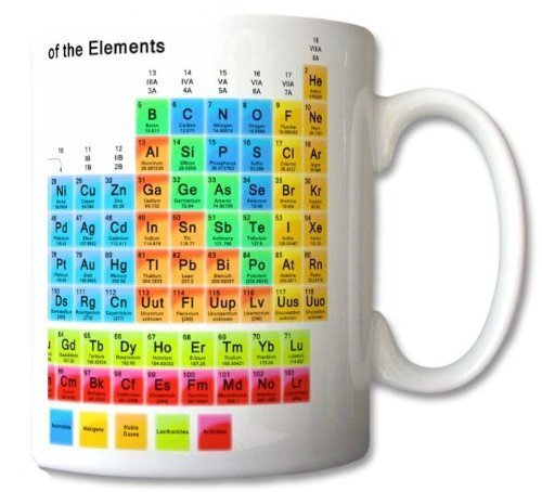 Periodic Table of the Elements Mug Chemistry Student Teacher Gift Cup Gift Retro...