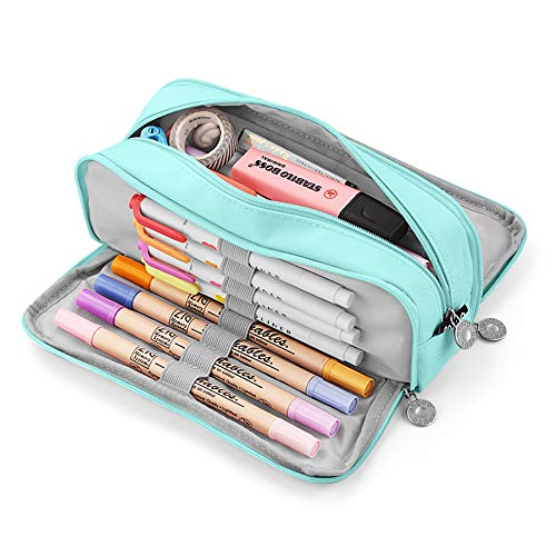 KidsPark Estuche Escolar con 3 Compartimentos, Estuche Escolar Grande Capacidad,...