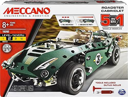 Meccano 5 Model Set Roadster - Juegos de construcción (Juego de construcción...
