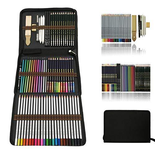 Profesional Lápices de colores Conjunto de Dibujo Artístico,lapiz dibujo y...
