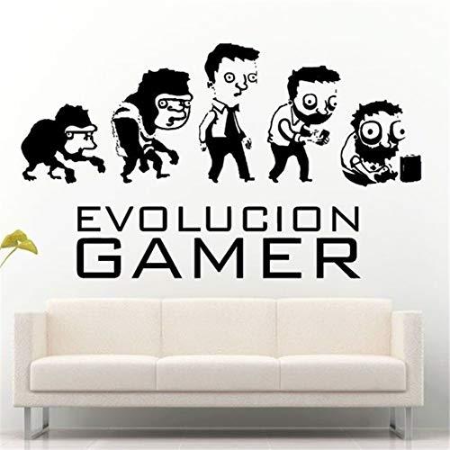 Calcomanía Vinilo Adhesivo Evolution Of Gaming Gamer Game Geeks Home Decor...
