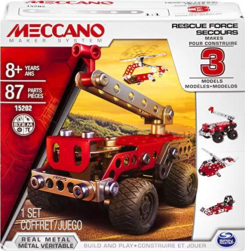 Spin Master Meccano 6026714 - Fuerzas de Seguridad al Rescate, 3 Modelos...