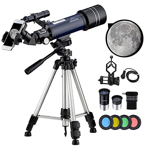 [ℕuevo]198X Telescopio Astronomico 40070 Profesional Telescopios Potentes para...
