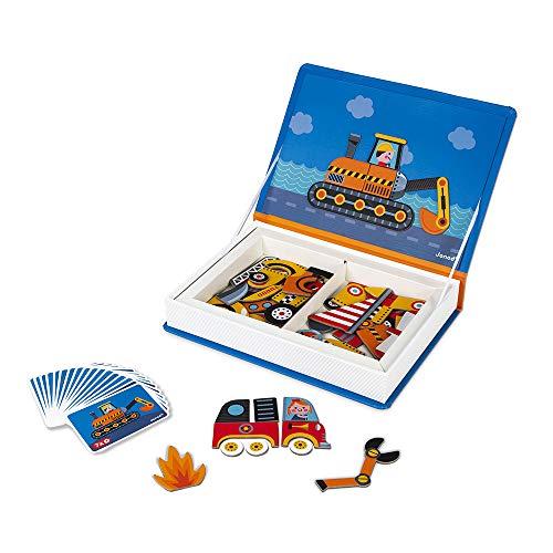 Janod - Magneti'Book Bolidos Juego Educativo, Multicolor (J02715)