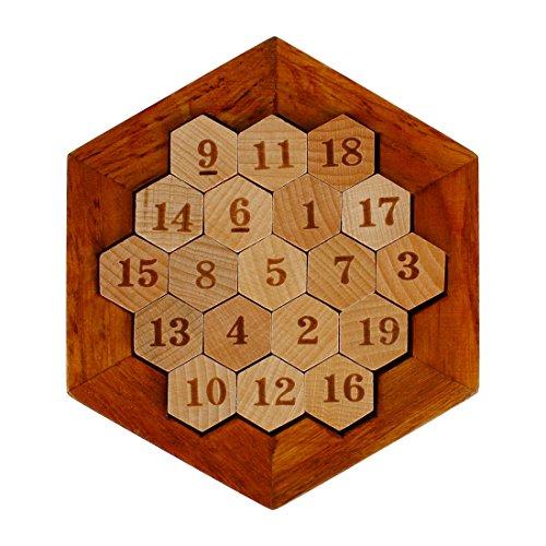 Larcele Hexágono Matemático de Madera Puzzle numérico Sudoku Juego de Mesa...