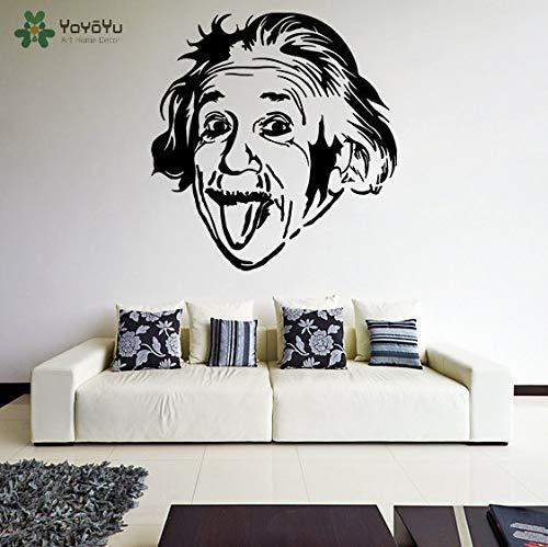 Etiqueta de la pared de Vinilo Pegatina Albert Einstein Sacando Su Lengua Loca...