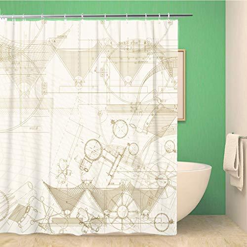 Awowee Decor - Cortina de Ducha (180 x 180 cm, poliéster, Impermeable, con...