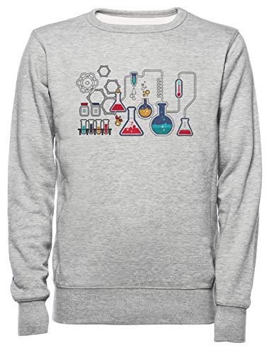 Rundi Química Hombre Mujer Unisexo Sudadera Jersey Gris Tamaño XL - Women's...