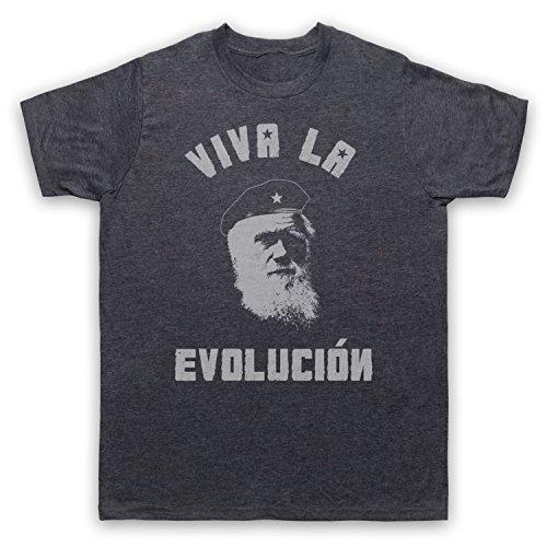 My Icon Art & Clothing Charles Darwin Viva La Evolucion Camiseta para Hombre,...