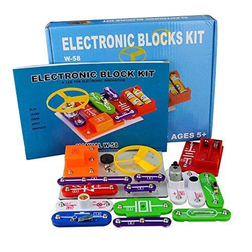 58 Kit de Ciencia DIY para Niños Kits de Experimento Bloques Electrónicos...