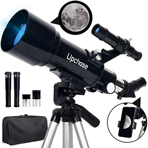 Upchase Telescopio Astronomico, 400/70mm Portátil y Potente Refractor...