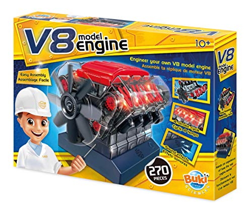 Buki France- Moteur V8 Motor, Color (7161)