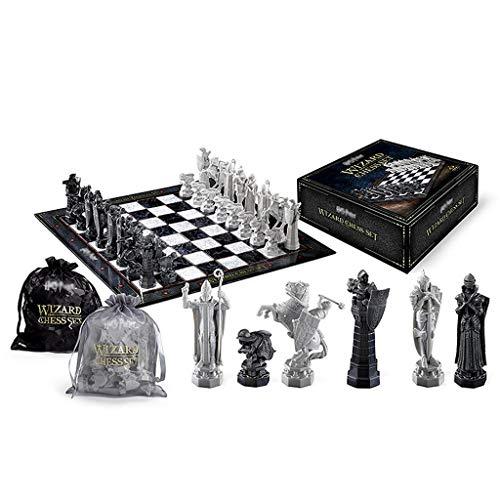FOLA Ajedrez y Damas Conjunto, Harry Potter Asistente Juego de ajedrez, Regalo...