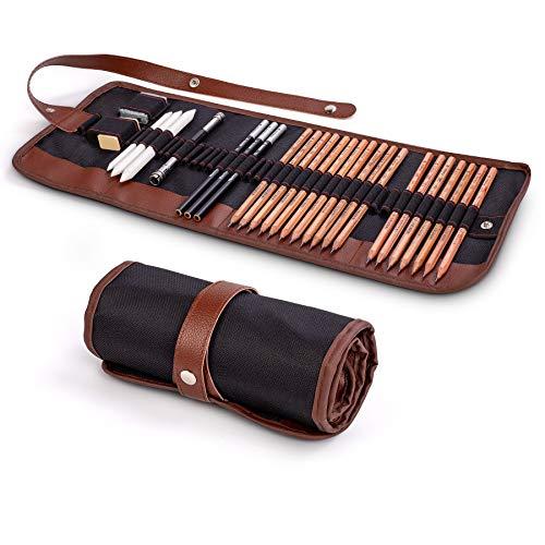 Cooja Set de Lapices de Dibujo, Lapiz Kit de Arte Material de Dibujo con Lapices...