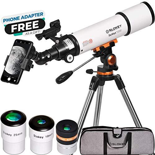 Telescopio Astronómico Profesional para Adultos Principiantes - Portátil y...