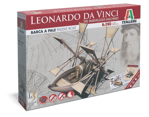 Italeri 3103S Leonardo Da Vinci - Barco de palas a escala [Importado de...