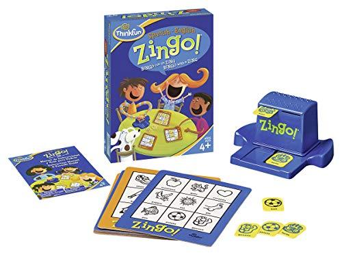 ThinkFun 76321, Zingo Juego Bilingual, Inglés y Español, 2+ Jugadores, Edad...