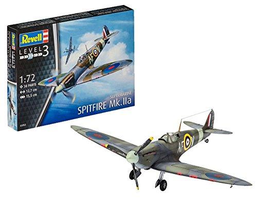 Revell Maqueta de avión 1: 72–Spitfire MK.IIA en Escala 1: 72, Nivel 3,...