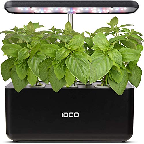 iDoo Sistema de Cultivo hidropónico, Jardinera de Interior de Hierbas con luz...