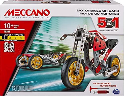 Meccano MEC MDL 5 en 1 St Fighter Bike CN UPCX GML, 6053371, Multicolor ,...