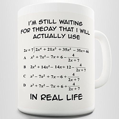 Divertidas tazas de café con fórmula matemática, 325 ml, regalos de Navidad...