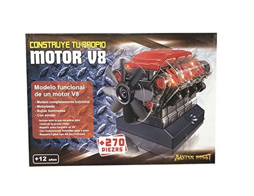 Outletdelocio. Maqueta Motor V8. Motorizado, Completamente Funcional. con Luz y...