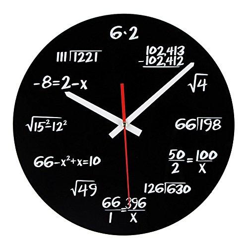 Reloj de matemáticas, reloj de pared único, reloj de pared diseño moderno,...