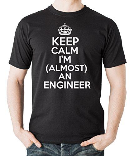 Milky Way Tshirts Hombres Mantener la Calma Estoy Casi un Ingeniero de...