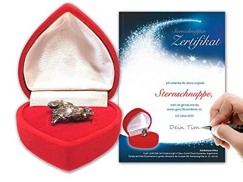 Auténtico meteorito en caja de corazón rojoIncluye certificado de meteorito...