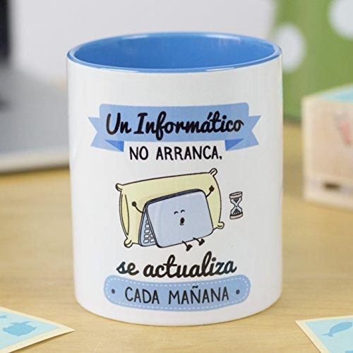 La Mente es Maravillosa - Taza frase y dibujo divertido (Un informático no...