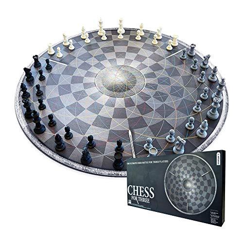 Mikamax - Ajedrez para Tres - Chess for Three - Ajedrez para 3 Personas - Negro...