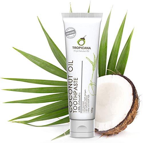 Tropicana Oil Pasta de Dientes Natural con Aceite de Coco Orgánico 100g - Pasta...