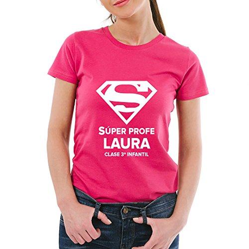 Calledelregalo Regalo Personalizable para Profesores: Camiseta Súper Profe...